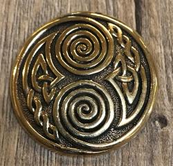 Anhänger - keltisch - 2 Spiralen massiv - Bronze