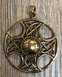 Anhänger - keltisch - keltisches Kreuz durchbrochen - Bronze