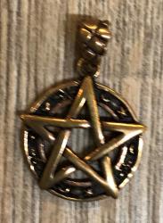 Anhänger - Pentakel/ Pentagramm - Bronze