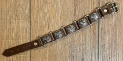 Armband - Leder - Triskele aus Zinn - braun