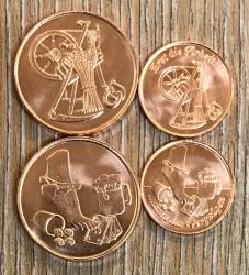 Volksmünzen* Set für Orgas 2 - Erst die Arbeit... + Met (optional) - Achtung kleine Version!