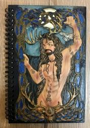 Notizbuch  - Herne/ Cernunnos, Gott des Waldes - Buch der Schatten - Book of Shadow - Grimoire
