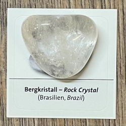 Edelstein - Trommelstein - Bergkristall - ca. 25-35mm