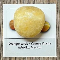Edelstein - Trommelstein - Calcit orange - ca. 25-35mm