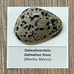 Edelstein - Trommelstein - Dalmatinerstein - ca. 25-35mm