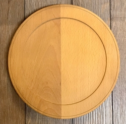Holz Teller - Buche unbehandelt - Größe L