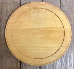 Holz Teller - Buche unbehandelt - Größe xL