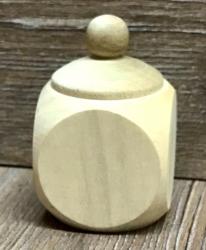 Holz Dose mit Schraubverschluss neutral eckig mit Deckel - 40mm groß