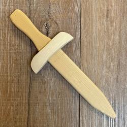 Holz Schwert - Dolch - Fichte unbehandelt - 34cm