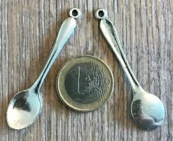 Anhänger - Charm - Löffel - Farbe: Silber