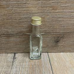 Flasche - Marasca 4eckig - 20ml - mit Verschluss
