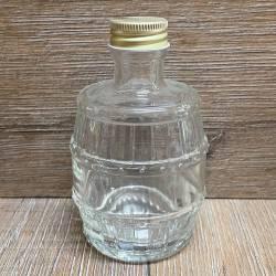 Flasche - Motiv - Fässchen - 200ml mit Verschluss