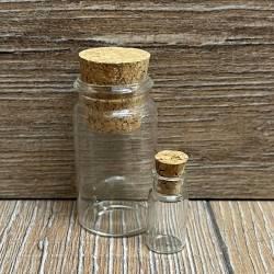 Glas - Glasröhrchen 1,0 ml mit Korken