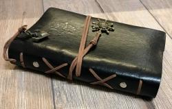 Notizbuch - Diary - Nautic/ Steuerrad - Größe 2 - schwarz