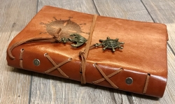 Notizbuch - Diary - Nautic/ Steuerrad - Größe 2 - braun