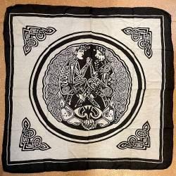 Tuch - Motiv 100cm x 100cm - keltisches Päarchen