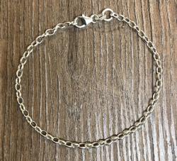 Charm - Silberkette/ Bettelarmband 18,5cm - 925er Silber