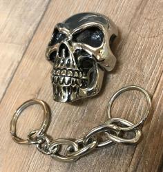 Schlüssel-/Portemonnaie-Kette- Skull/ Totenkopf - Edelstahl