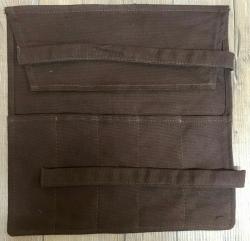 Tasche - Rolltasche für Arzt- & Heilerbesteck - braun