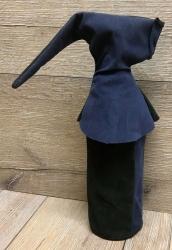 Flaschen Gugel - Flaschen Harlekine - blau / schwarz