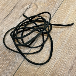 Lederband - 3mm, 1,8m - eckig - schwarz
