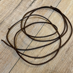 Lederband - 3mm, 1,8m - rund - braun