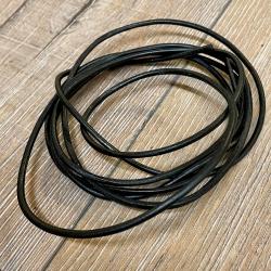 Lederband - 3mm, 1,8m - rund - schwarz