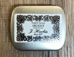 Siegel - Stempelkissen für Siegel J. Herbin - silber