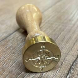 Siegel - Motiv Kompass - 24mm - inkl. Griff