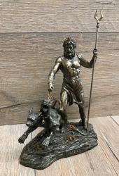 Statue - Hades - griechischer Gott der Unterwelt - Dekoration - Ritualbedarf