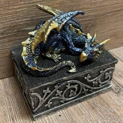 Truhe - Drachendose - blau