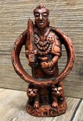 Statue - Freya Figurine klein - Holzfinish - Dekoration - Ritualbedarf