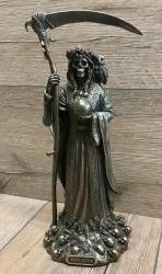 Statue - Santa Muerte/ weiblicher Tod - coloriert - Dekoration - Ritualbedarf
