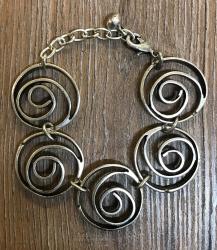 Armband - Amber - Spiralen 2 - Deluxe Kollektion - Wicca - OBOD - ADF - Druiden - Kelten - Hexen