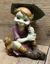 Figur - Pixies mit Regenschirm - Eichhörnchen - Dekoration - Ausverkauf