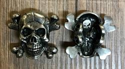 Schuh-Pin - Totenkopf/ Jolly Roger - Shoe-Pin - Zinn