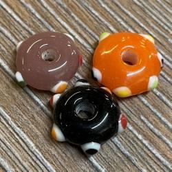 Perlen - Glasperlen - Augenperlen flach - groß - Wickelperle Wikinger Haithabu Birka