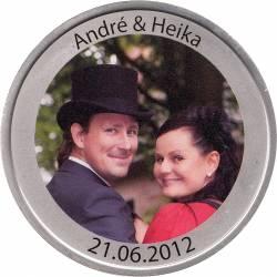 Fotomedaille - Dein Foto auf einer Medaille - 40mm - Feinsilberauflage - weitere Motive