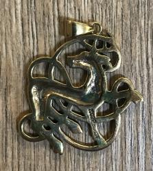 Anhänger keltischer Hirsch / Celtic Stag - Bronze