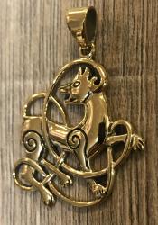 Anhänger keltischer Wolf / Celtic Wolf - Bronze