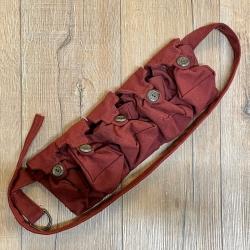Tasche - Baumwolle - 5er Taschengürtel - bordeaux