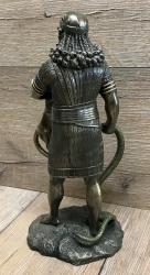 Statue - Gilgamesh - König aus Uruk & Totengott - bronziert - Dekoration - Ritualbedarf
