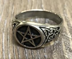 Ring - Pentagramm - 925er Silber - verschiedene Größen