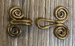 Schließe aus Metall - Gewand - Spirale des Lebens klein - Bronze