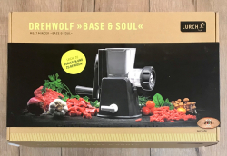 Lurch - Base&Soul Drehwolf steingrau/weiß - perfekt für Homemade Burger