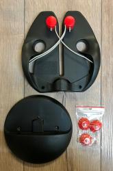 DICK - Messerschärfer Set Rapid Steel Action - schwarz - inkl. Standfuss mit Saugnäpfen
