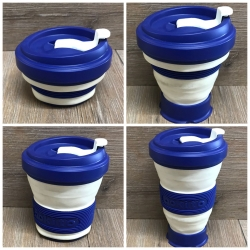 Pokito - Coffee to go Faltbecher aus TPE - BPA-frei - blueberry/ dunkelblau