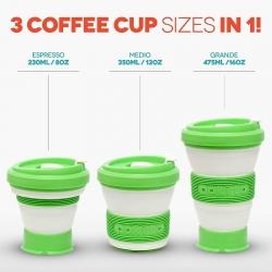 Pokito - Coffee to go Faltbecher aus TPE - BPA-frei - blueberry/ dunkelblau