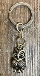 Schlüsselanhänger - Eule versilbert