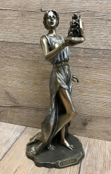 Statue - Statue - Pandora mit Büchse - griechische Priesterin im Orakel - Dekoration - Ritualbedarf